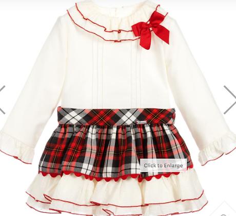Miranda Girls' Blouse and Skirt Set