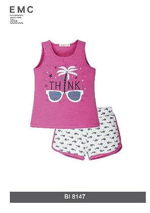 EMC Girls' Pyjamas T-shirt and Shorts