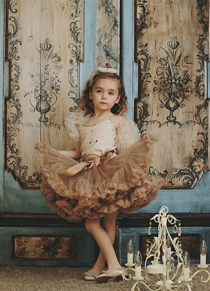 DOLLY BY LE PETIT TOM LITTLE MERMAID PETTISKIRT TAUPE