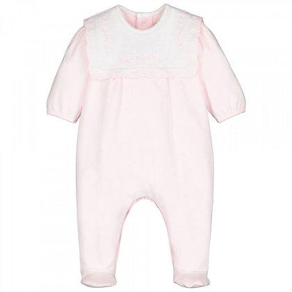 EMILE ET ROSE Pink Babygrow