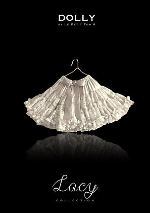 DOLLY BY LE PETIT TOM  LACY PETTISKIRT OFF-WHITE
