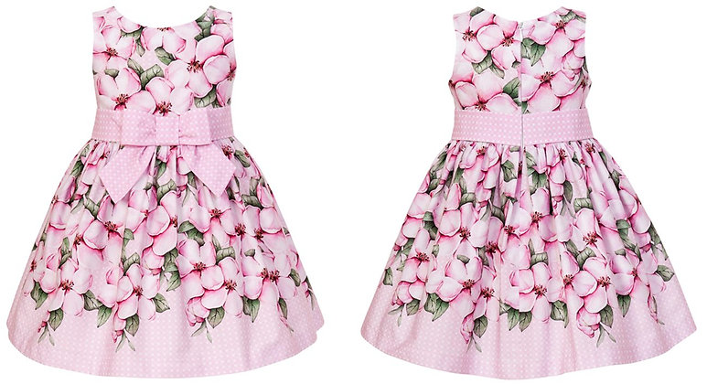 Balloon Chic Pink Flowers Printed Dress