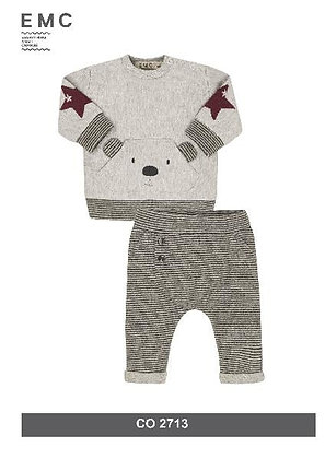 EMC Baby Boys' Grey Teddy Bear