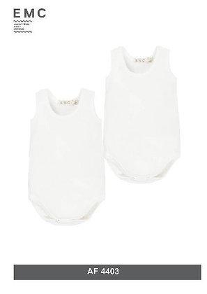 EMC White Body Vests 2pk