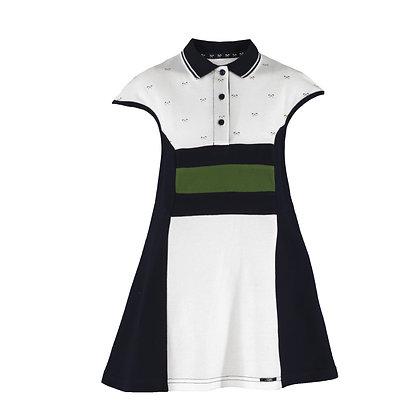 Miranda Nel Blu Polo Dress