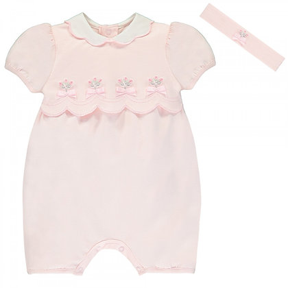 EMILE ET ROSE Summery Pale Pink Romper with Band