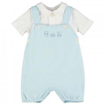 Baby Boys Dungaree Romper Blue