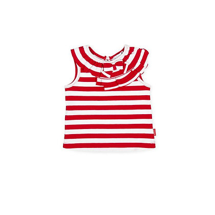 Striped Red Top Set Girls