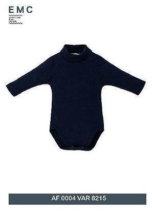 EMC Unisex Baby Navy Blue Polo neck Body