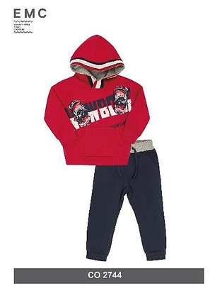 EMC Boys' Red and Blue Tracksuit
