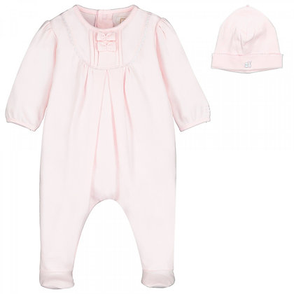 EMILE ET ROSE Pink Babygrow with Hat Included