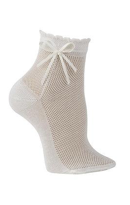 Carlomagno Girls White Ankle Socks