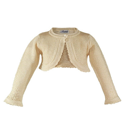 Gold Cardigan shrug bolero girls knitwear