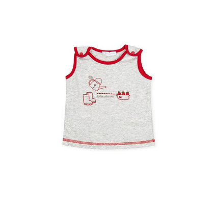 Beach t-shirt swimwear grey red baby boys