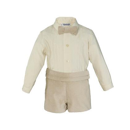 Miranda Baby Boys' Shirt and Shorts Set with Bowtie