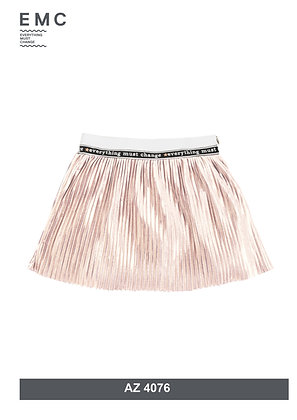 EMC Girls Gold Plisse Skirt