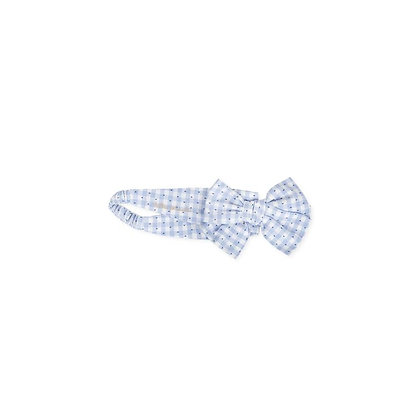Hairband Gingham Blue Bow Girl Baby