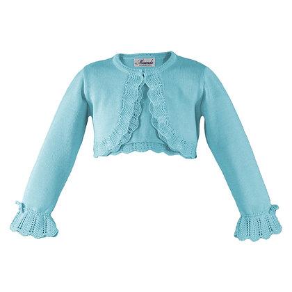 Miranda Girls Turquoise Knitted Bolero