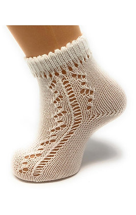 Carlomagno Unisex Natural Threaded  Ankle Sock