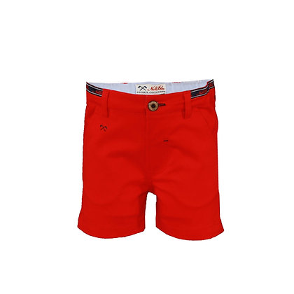 Red Bermuda Chino Shorts Boys Miranda