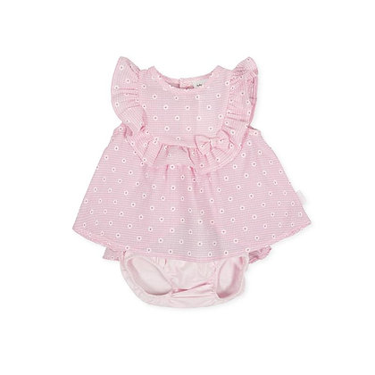 Dress Daises Bow Frill Brief Baby Girl Pink