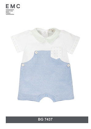 Baby Boys Romper White Green Blue