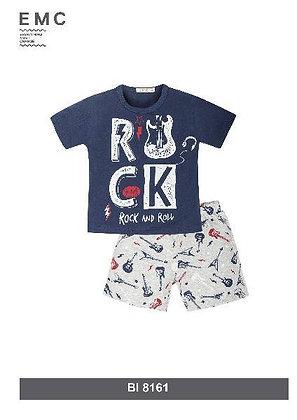 Boys Short Shorts pyjama Blue grey