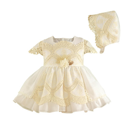 Miranda Baby girls' dress with Bonnet