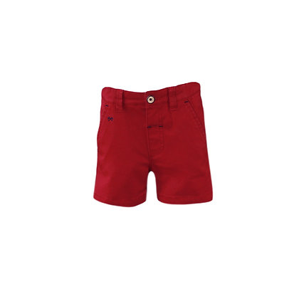 Miranda Maroon Bermuda Shorts Boys