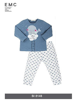 EMC Girls' Pygama with Whale pattern