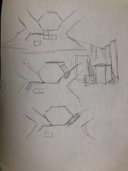 Ground plan sketches