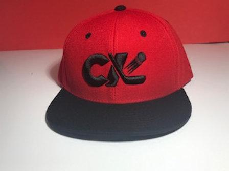 CK Hockey Flatbill Snapback Red/Black