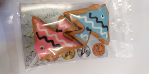 Adri's gingerbread Fish pink & blue