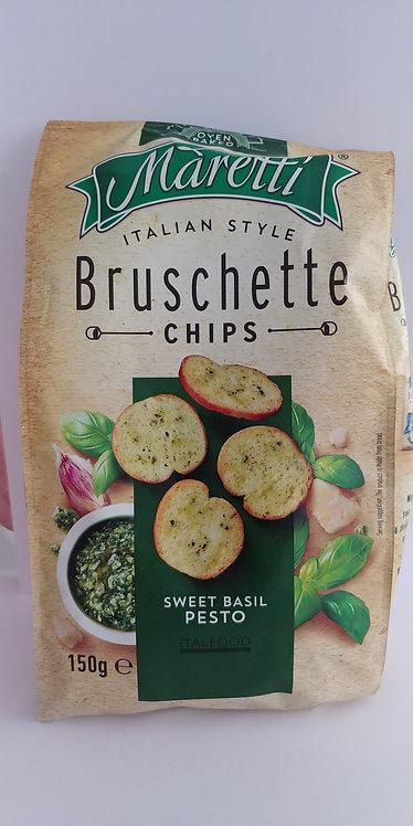 Bruschette chips pesto