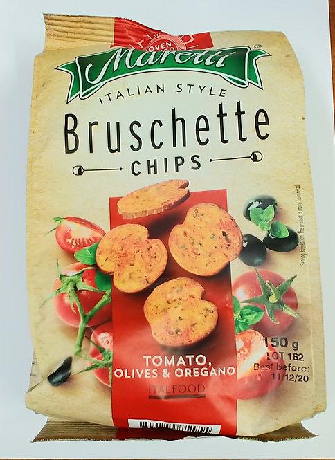 Bruschette chips Tomato, olive & oregano