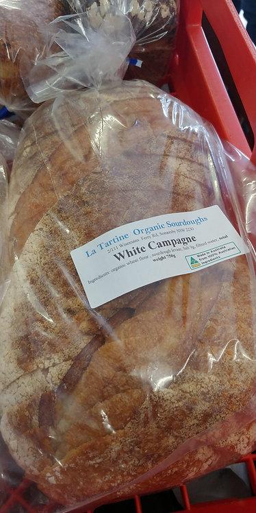 Sliced white campagne sourdough La Tartine
