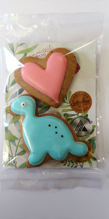 Adri's gingerbread Blue dinosaur