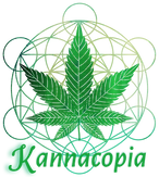 image of metatron and cannabis leaf