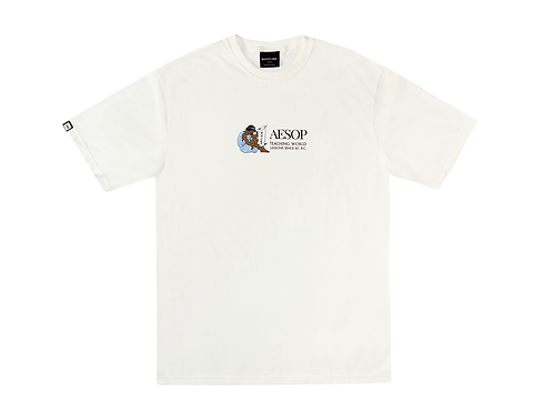 WORLD LESSONS TEE IN OFF-WHITE
