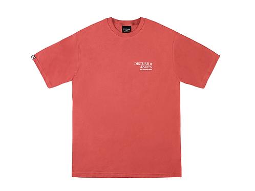 DISTURB&AESOP'S TEE IN RED
