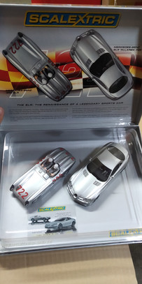 MERCEDES BENZ 300 SLR + MERCEDES-BENZ SLR MCLAREN 722 SET SUPERSLOT LIMITED EDITION