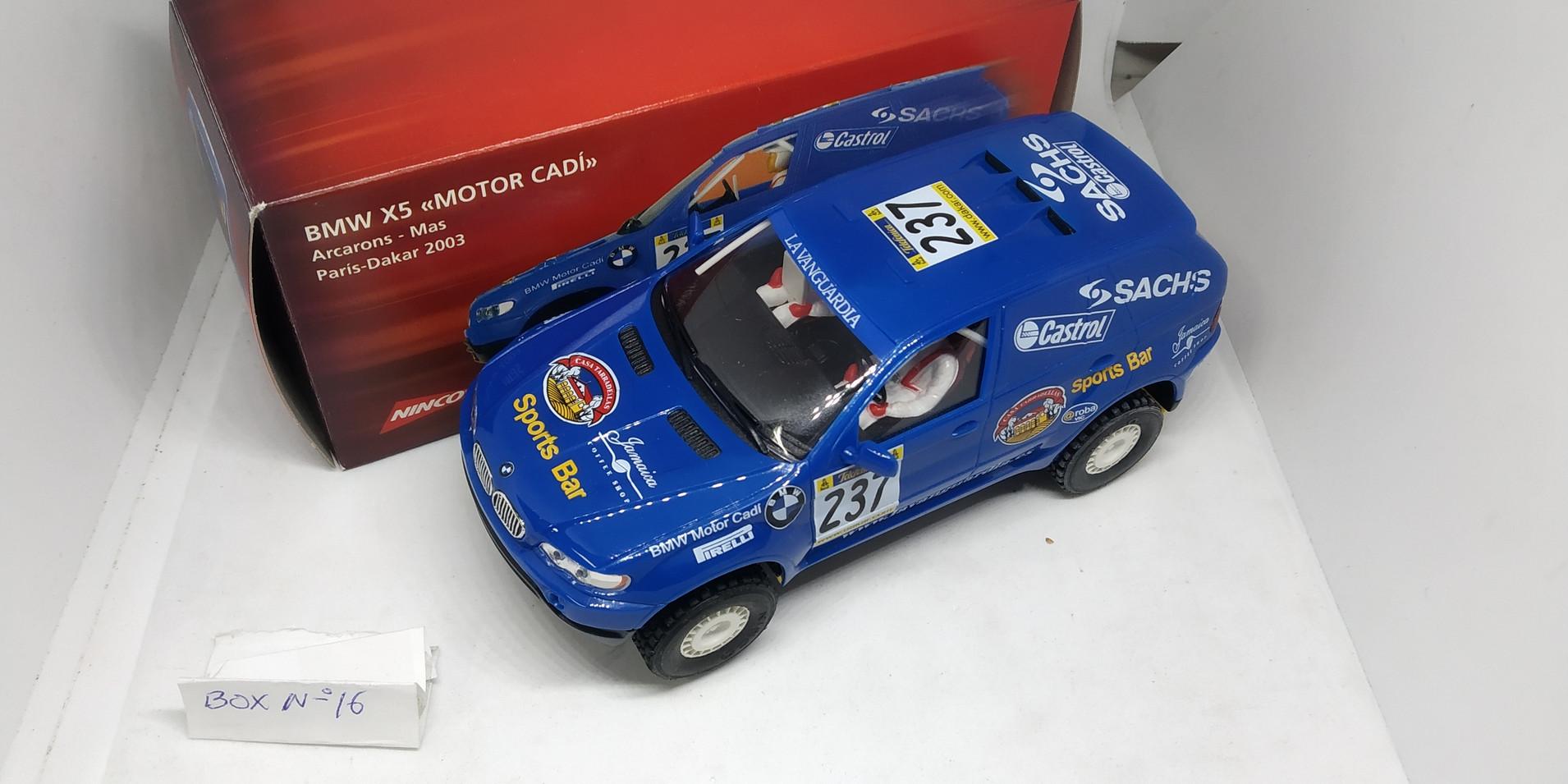 "BMW X5 ""MOTOR CADI"" SALVAT NINCO"