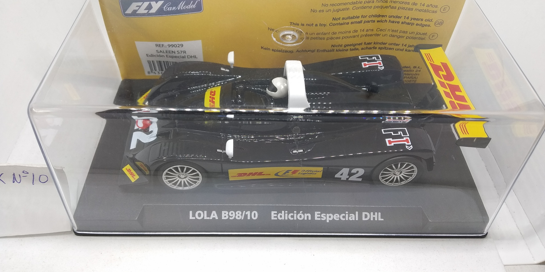 "LOLA B98/10 EDICION ESPECIAL""DHL"" REF.99029 FLY CAR MODEL"