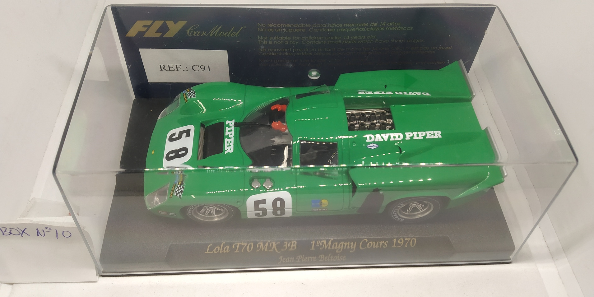 LOLA T70 MK3B 1ºMAGNY COURS 1970, REF. C91 FLY CAR MODEL
