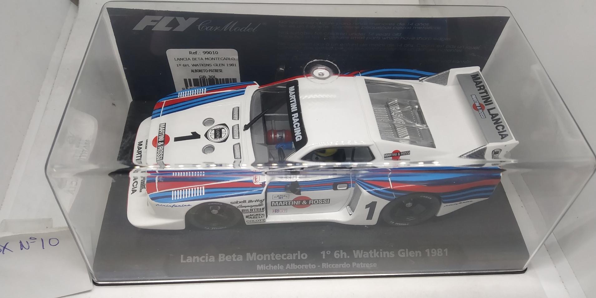 LANCIA BETA MONTECARLO 1º6H. WATKINS GLEN 1981 ALBORETO-PATRESE REF.99010 FLY CAR MODEL