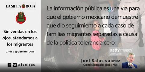 Sin vendas en los ojos, atendamos a los migrantes