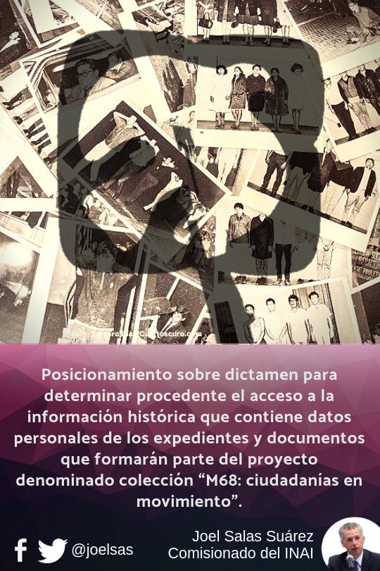 Posicionamiento sobre dictamen para determinar procedente el acceso a la información histórica que c