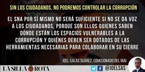Sin los ciudadanos no podremos controlar la corrupcion