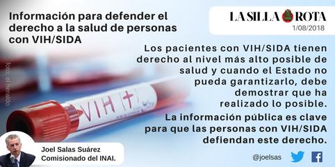 En defensa al derecho a la salud de personas con #VIH #SIDA.