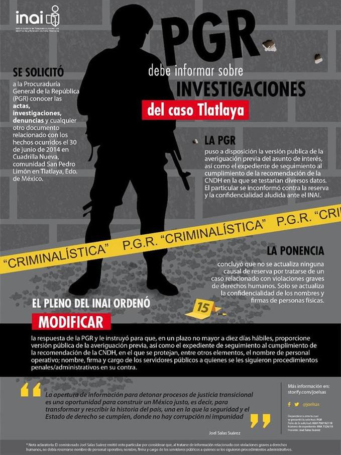 PGR debe informar sobre investigaciones del caso Tlatlaya